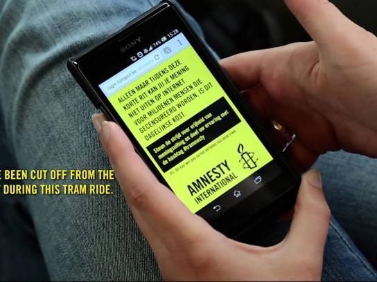 Amnesty International Ambient Ad -  #tramnesty