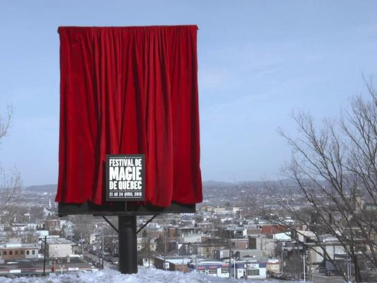 Quebec city magic festival Outdoor Ad -  The Mysterious Billboard