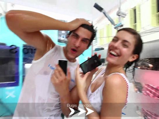 Sony Ambient Ad -  Showering Xperience