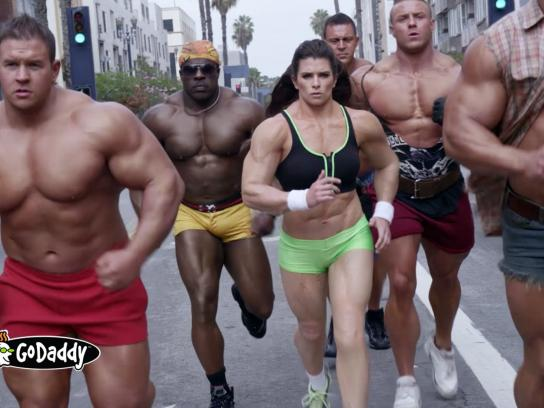 Godaddy.com Film Ad -  Bodybuilder