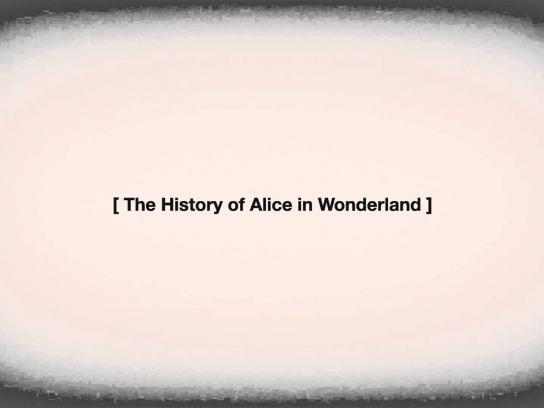 Quercus Books Film Ad -  Alice in wonderland