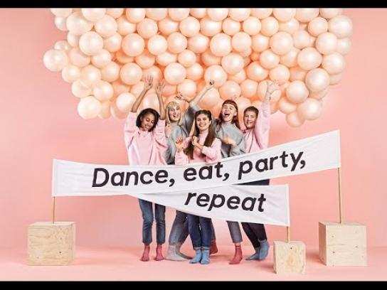 Monki Digital Ad - Dance, eat, party, repeat