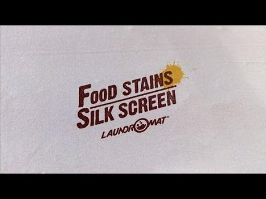 LaundroMat Direct Ad -  Food Stain Silk Screen