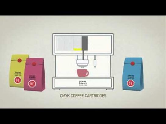 Douwe Egberts Ambient Ad -  Coffee Click