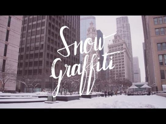 Mexico Tourism Board Outdoor Ad -  Snow graffiti