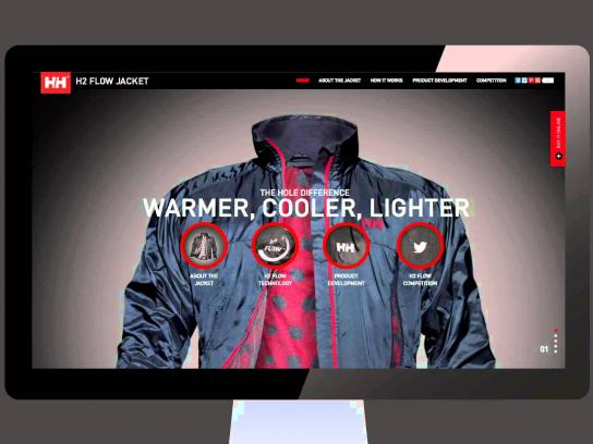 Helly Hansen Digital Ad -  The Hole Difference