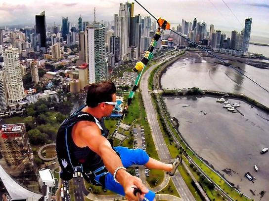 Speed Stick Film Ad -  World's Largest Urban Zipline