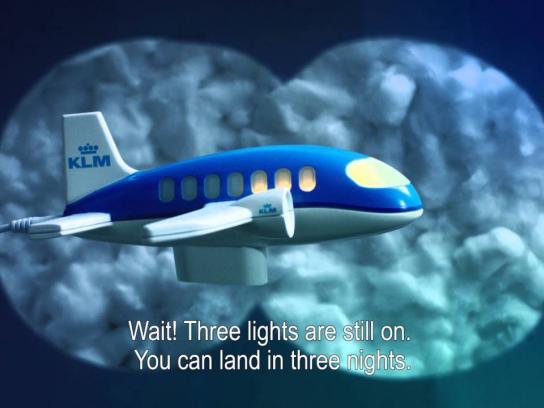KLM Direct Ad -  Night light