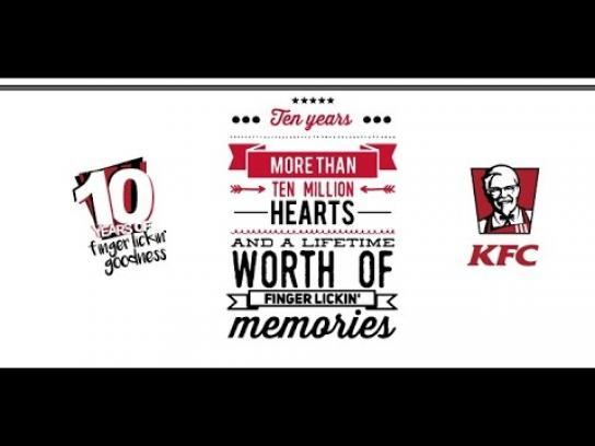 KFC Ambient Ad - KFC's Big 10!
