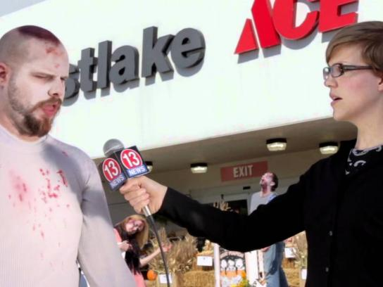 Westlake Hardware Digital Ad -  Zombie Preparedness, First Zombie Protest