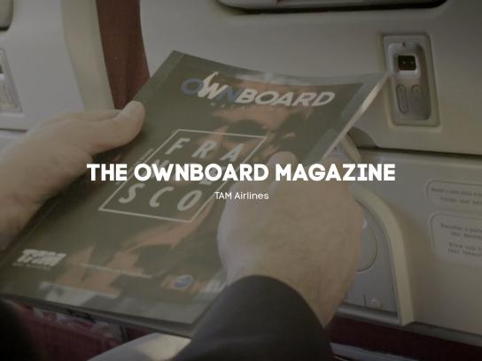 TAM Airlines Digital Ad -  The ownboard magazine