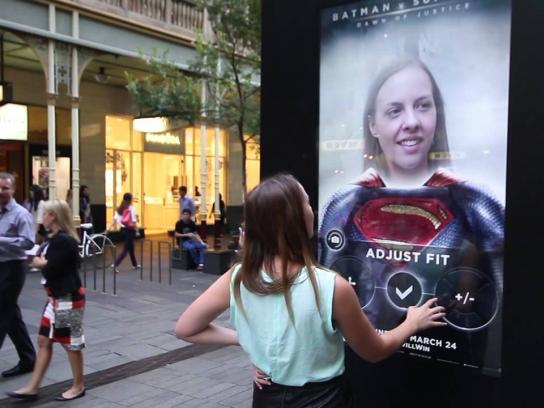 Batman Ambient Ad -  Augmented Reality Super Selfies