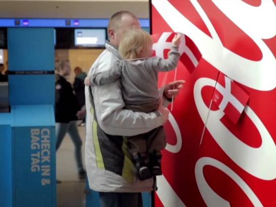Coca-Cola Ambient Ad -  The Happy Flag