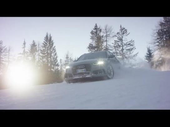 Audi Ambient Ad -  Back on the slopes