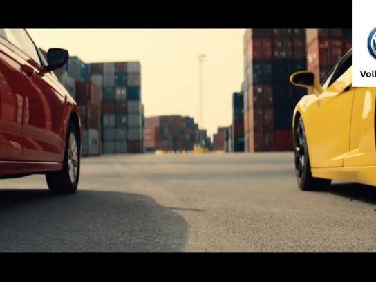 Volkswagen Integrated Ad - Faster Than a Lamborghini