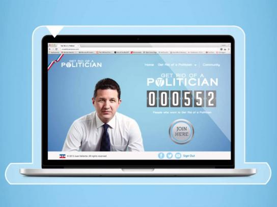 Juan Valiente Digital Ad -  Get rid of a politician