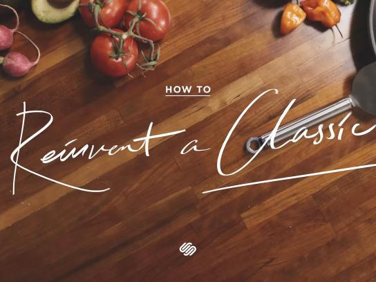 Squarespace Film Ad -  How to reinvent a classic