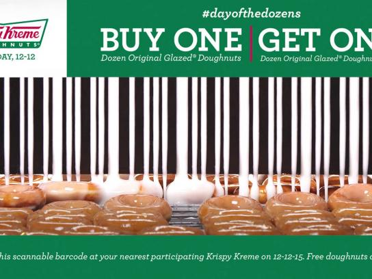 Krispy Kreme Digital Ad -  One sweet barcode