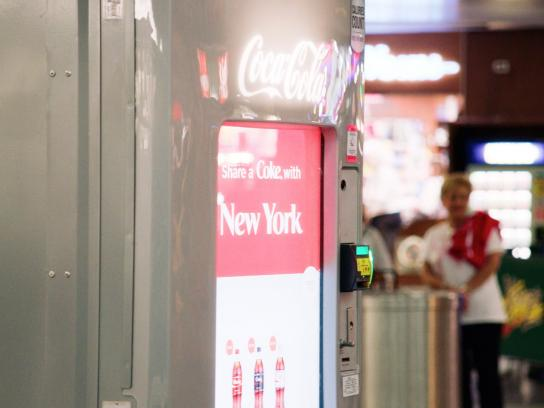 Coca-Cola Ambient Ad -  Share a Coke with humanity