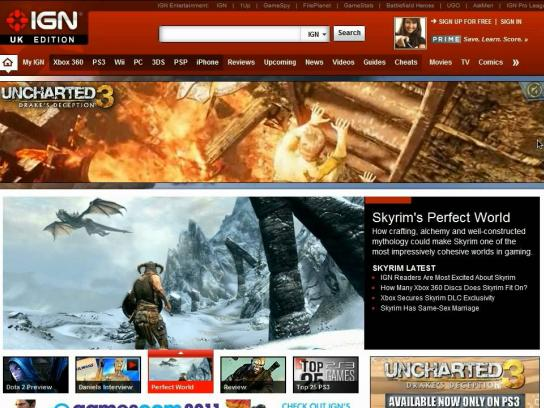 Uncharted 3 Digital Ad -  Takeover banner