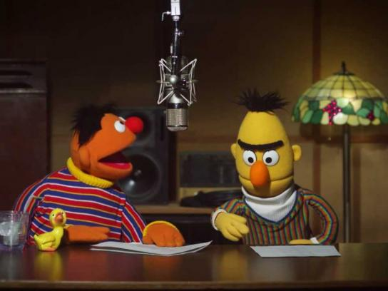 TomTom Film Ad -  Behind the scenes of Bert and Ernie voice recording for TomTom GPS