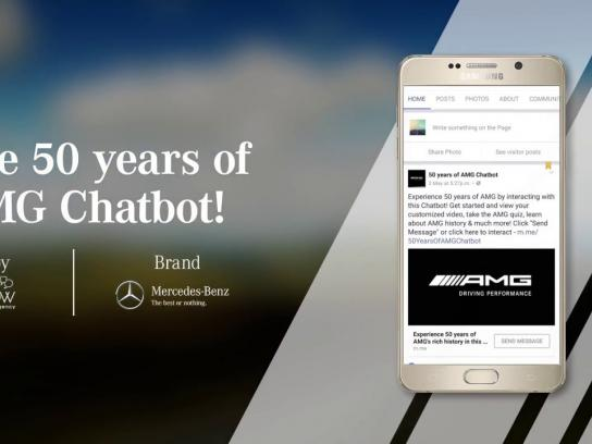 Mercedes Digital Ad - Mercedes-Benz Facebook Messenger Chatbot for 50 Years of AMG