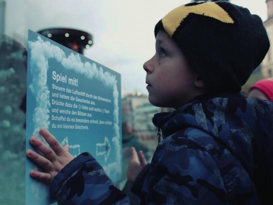 Matel Experiential Ad - Interactive Christmas Window