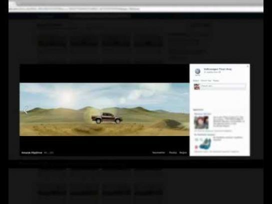 Volkswagen Digital Ad -  Facebook Flipbook
