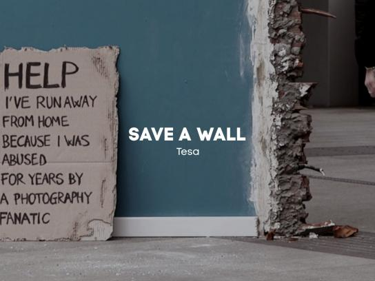 Tesa Outdoor Ad - Save a wall