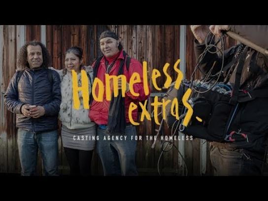 De Volksbond Ambient Ad -  Homeless extras