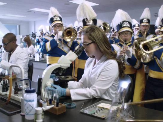 National Collegiate Athletic Association Film Ad -  Marching Band