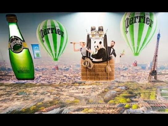 Perrier Ambient Ad - Hot air balloon ride