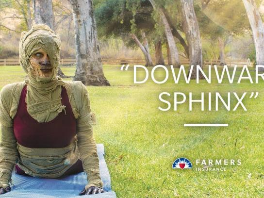 Farmers Insurance Film Ad - Downward Sphinx