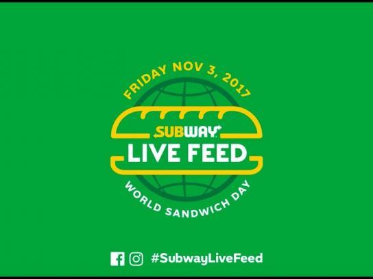 Subway Digital Ad - Live Feed
