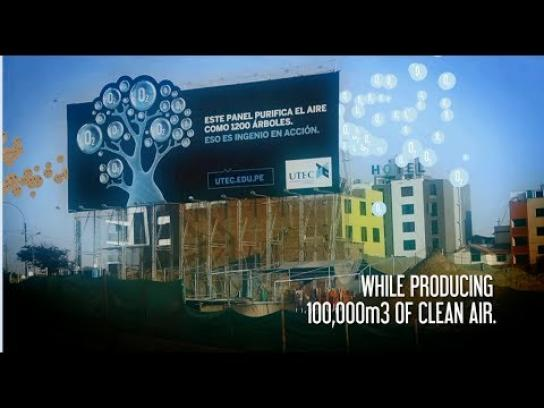 UTEC Outdoor Ad -  1200 Trees-like Purifying Billboard