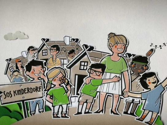 SOS Children's Villages Digital Ad -  TimeSpend-App