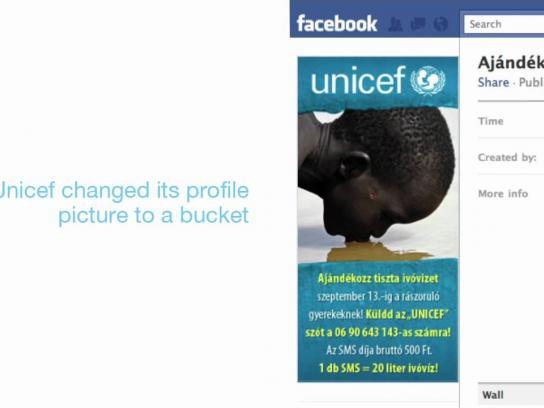 Unicef Digital Ad -  Drops and bucket