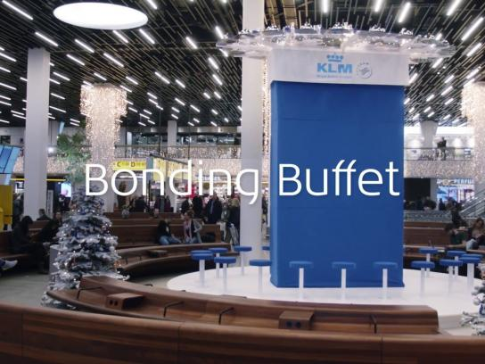 KLM Experiential Ad - Bonding Buffet