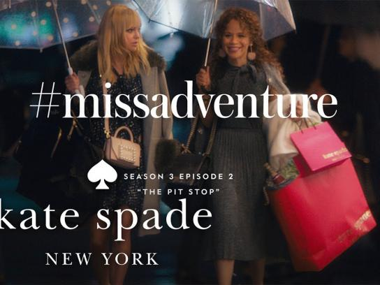 Kate Spade Content Ad - Miss Adventure - The pit stop