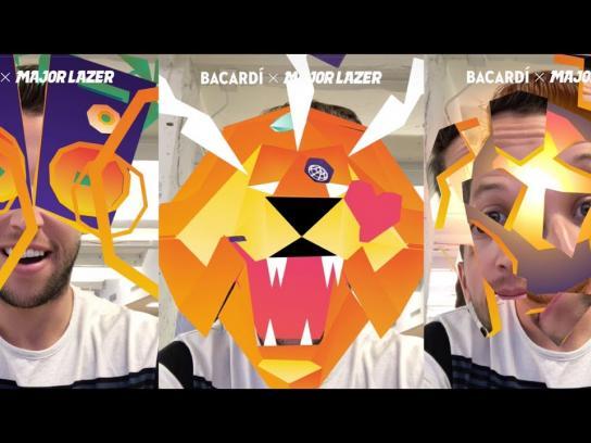 Bacardi Film Ad - BACARDÍ X Major Lazer Snapchat Lens