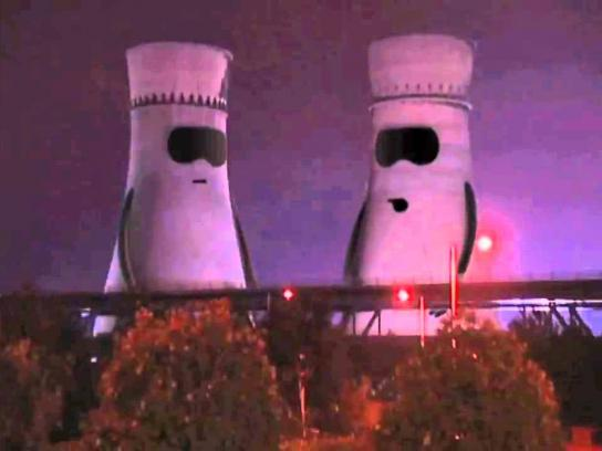 Ecotricity Film Ad -  Collapsing Cooling Towers