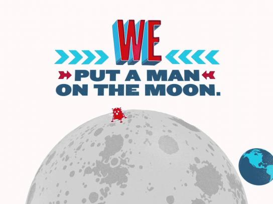 Great Nations Eat Film Ad -  We put a man on the Moon