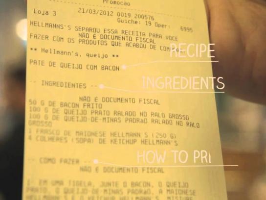 Hellmann's Ambient Ad -  Recipe Receipt