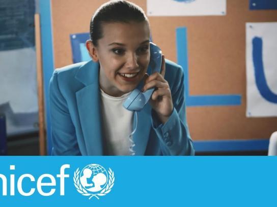 Unicef Film Ad - Millie Bobby Brown: Go Blue on World Children's Day