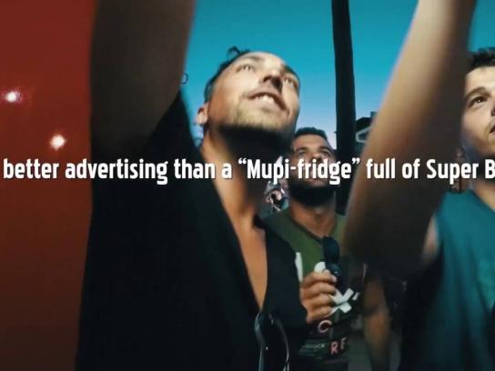Super Bock Outdoor Ad - Mupi fridge