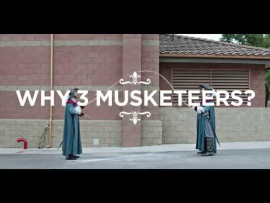 Three Musketeers Film Ad -  Double Dutch