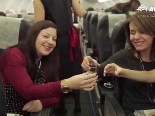 Aegean Airlines Ambient Ad -  New Year's Eve in the Air