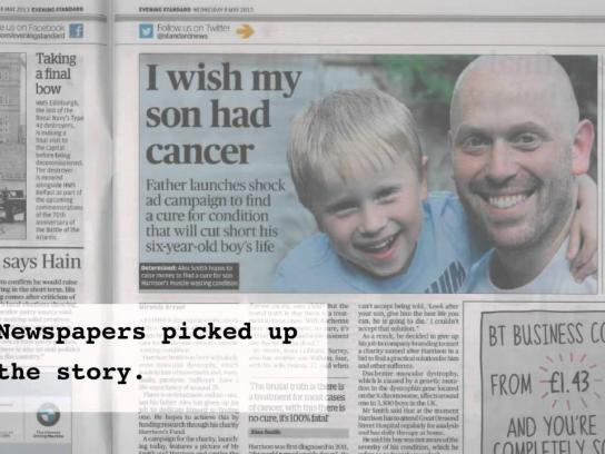 Harrison's Fund Digital Ad -  I wish my son had cancer