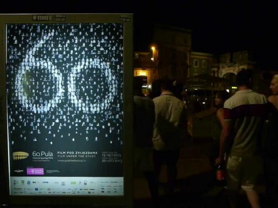 Pula Film Festival Ambient Ad -  Wish box