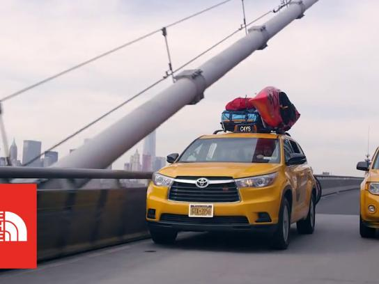 The North Face Ambient Ad -  See for yourself cab